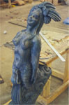 "Mermaid Statue sealed in Plastic  Varnish Flat for ""I know What You Did Last Summer"""