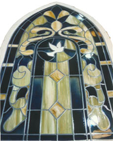Stained Glass created using Plastic Varnish