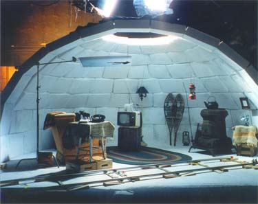 Igloo scenery created by Logan Enterprises
